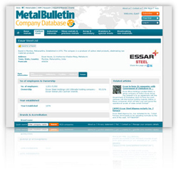 Metal Bulletin Company Database
